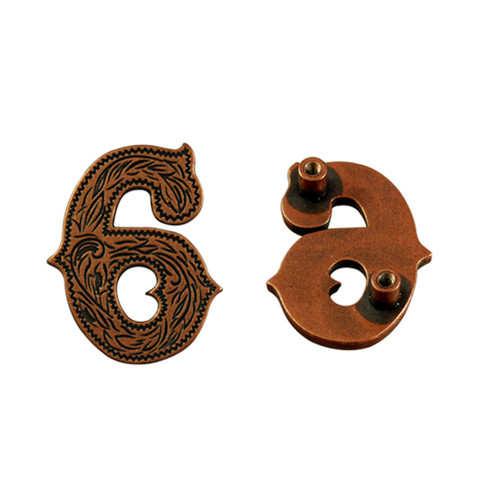 Number 6 Screwback Concho in Antique Copper Plated 1339-333