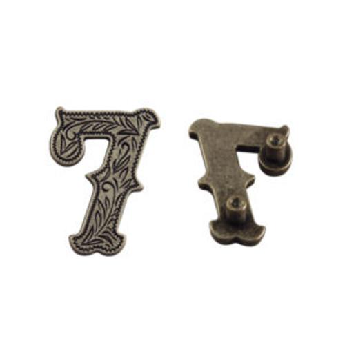 Number 7 Screwback Concho in Dark Silver 1339-342