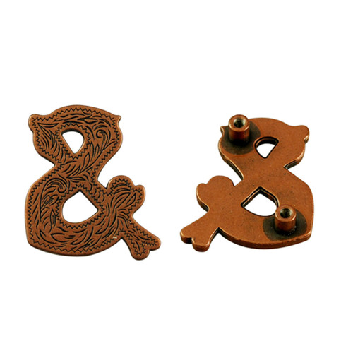 & Screwback Concho in Antique Copper 1339-383