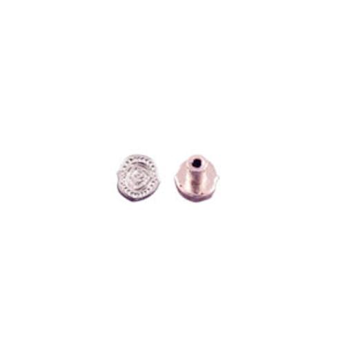 . Screwback Concho in Shiny Silver 1339-42