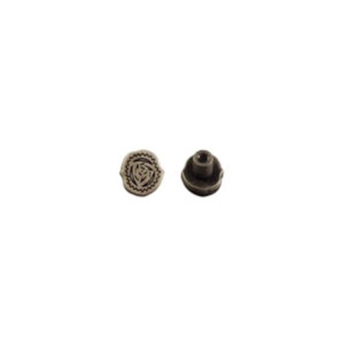 Period Screwback Concho in Dark Silver 1339-422