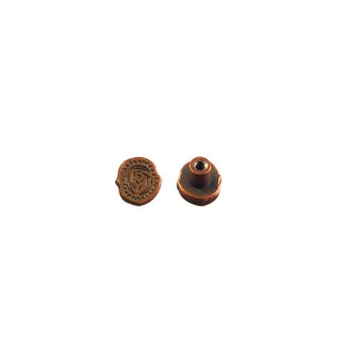 Period Screwback Concho in Copper Plated 1339-423