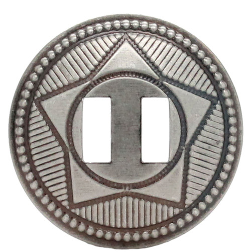 "Slotted Concho Star Design Antique Nickel 1-1/2"" 10 Pack"