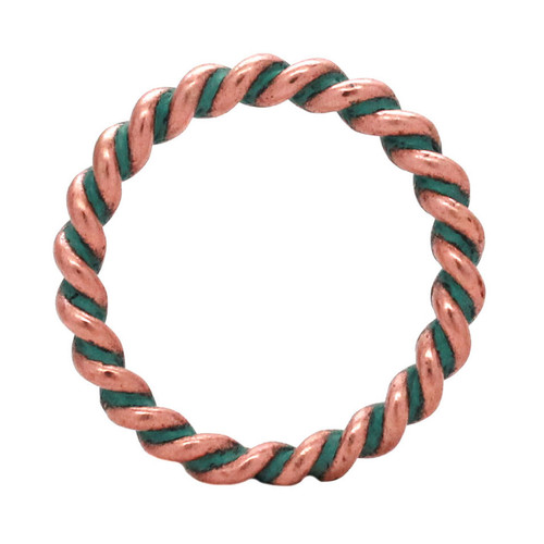 Ring Rope Copper Patina 1""