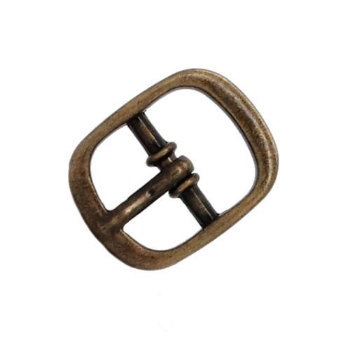 "Sandal Buckle Antique Brass 1/2"""