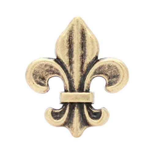 "Fleur di Lis Concho Antique Brass 1-3/16"""
