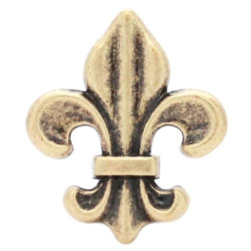"Fleur di Lis Concho Antique Brass 1-5/8"""