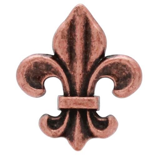 "Fleur di Lis Concho Antique Copper 1-5/8"""