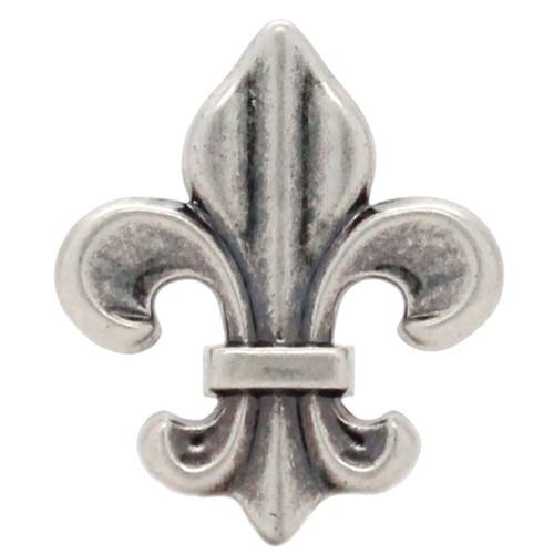 "Fleur di Lis Concho Antique Nickel 1-5/8"""