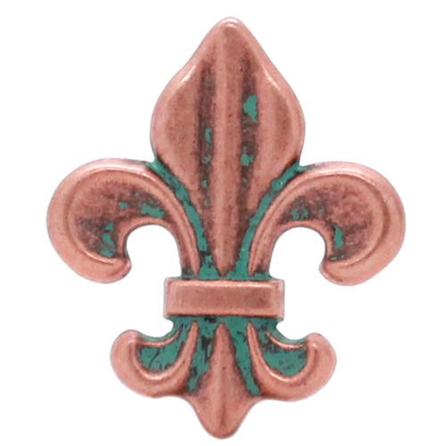 "Fleur di Lis Concho Copper Patina 1-5/8"" 7162-90"