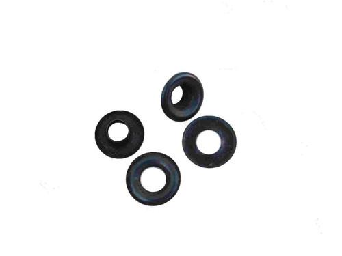 """Black/Steel #00 3/16"""" Grommets B1S-00, 24 Pack"""
