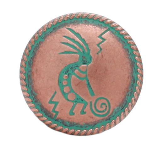 Kokopelli Concho Copper Patina