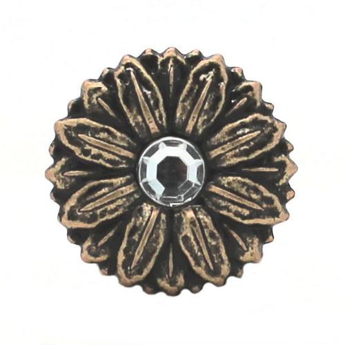 Sunflower Antique Brass Decorative Line 24 Snap Cap
