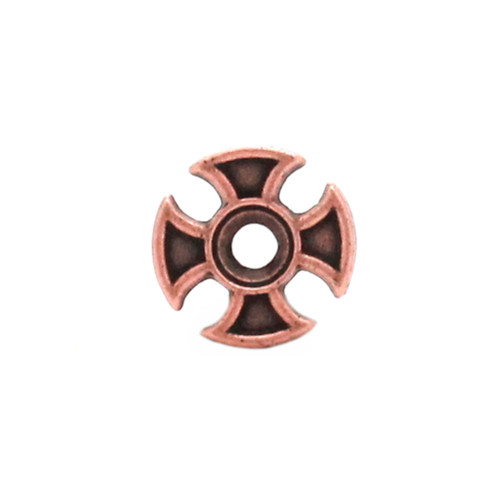 Maltese Cross Bezel Concho Front Copper