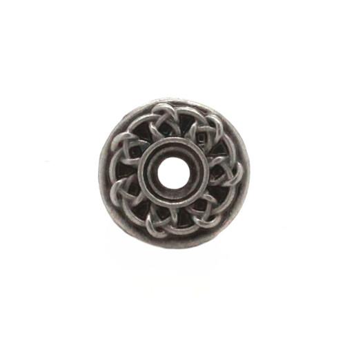 Celtic Bezel Concho Antique Silver Front