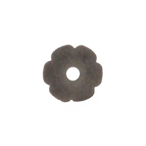 Flower Bezel Concho in Antique Nickel Back