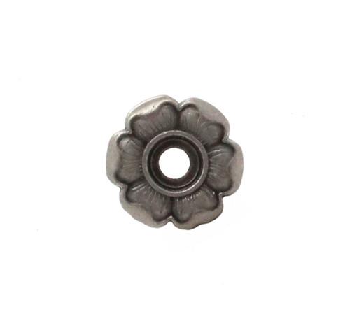 Flower Bezel Concho in Antique Nickel Front