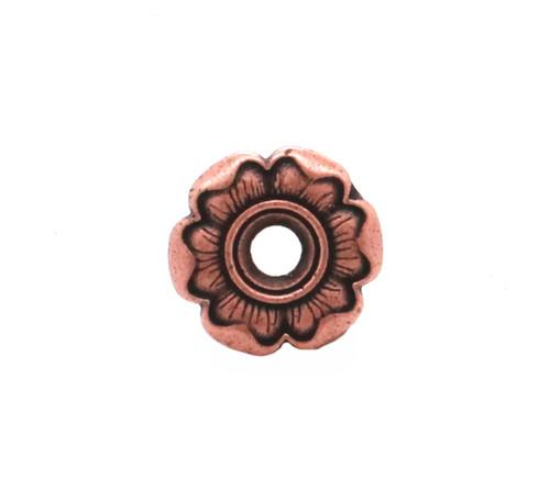 Flower Bezel Concho in Copper Plate Front