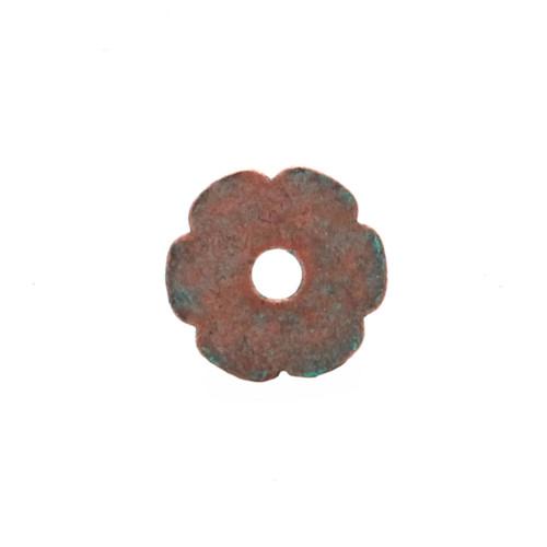 Flower Bezel Concho in Copper Patina Back