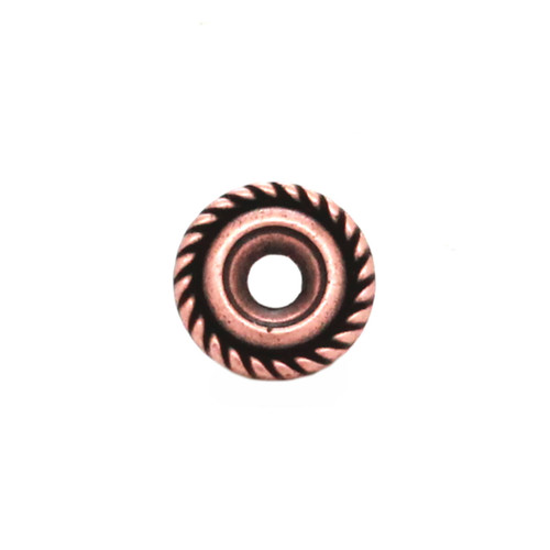Western Roped Edge Bezel Concho in Copper Front