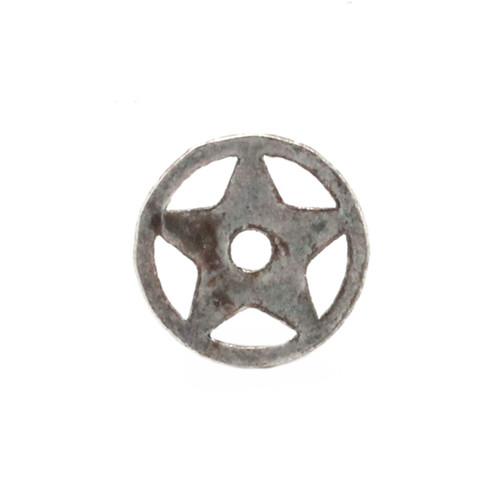 Western Roped Star Bezel Concho in Antique Nickel Back