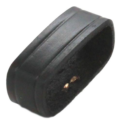 """Leather Loop Black 1-1/2"""" Top"""