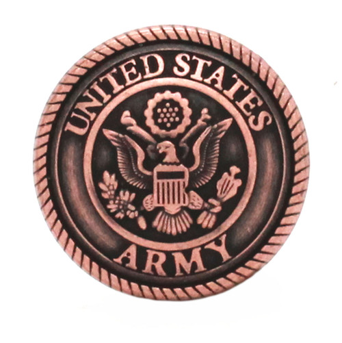 Army Logo Antique Copper Front