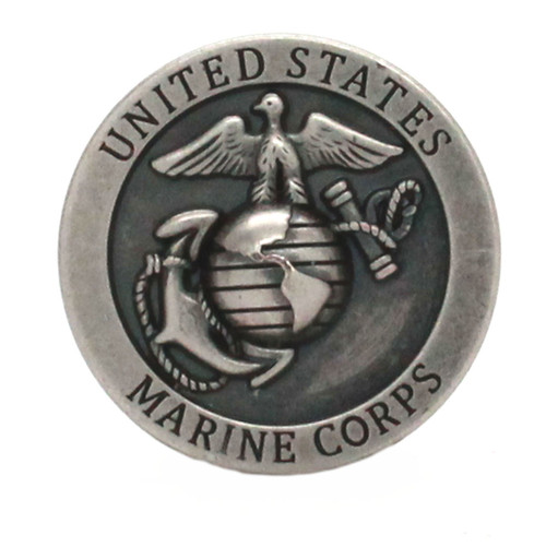 Marine Corps Logo Antique Nickel Front