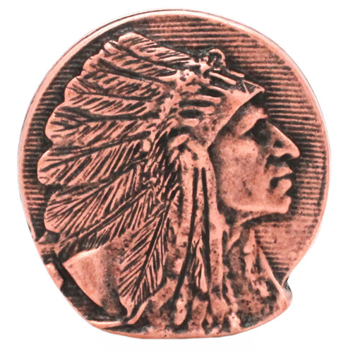 "Chief Concho Right Antique Copper 2-1/8"" Front"
