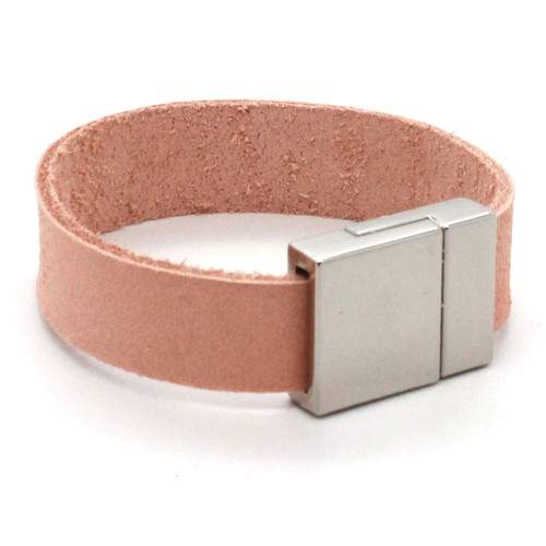 "Bracelet connector magnetic 1/2"" with leather."