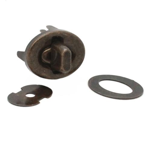 4 Piece Turn Lock Set Steel Antique Brass Parts