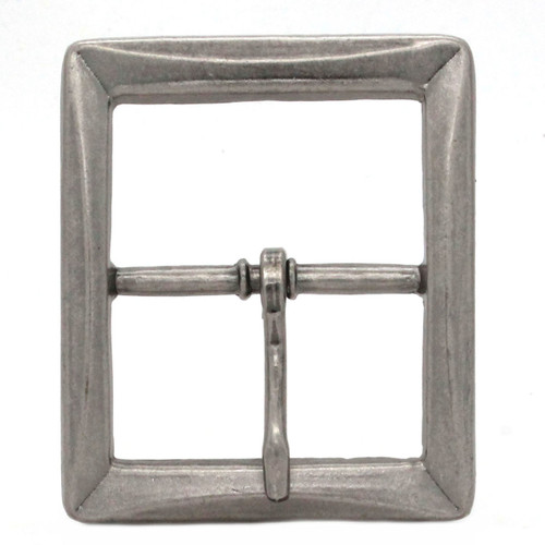 Buckle Center Bar With Beveled Edges Antique Nickel Front