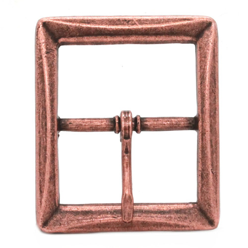 Buckle Center Bar With Beveled Edges Antique Copper Front