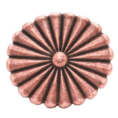 Pinwheel Trophy Belt Buckle Antique Copper Front
