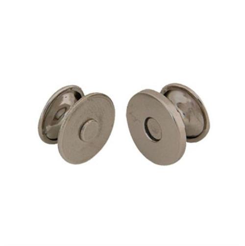 "Magnetic Bag Clasp Rivetback 5/8"" (14mm) Nickel Plate"