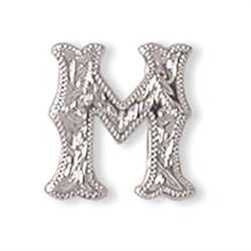 "Alphabet Letter M Screwback Concho 3/4"" 1339-13"