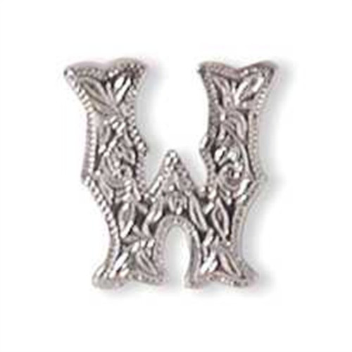 Alphabet Letter W Screwback Concho 1339-23