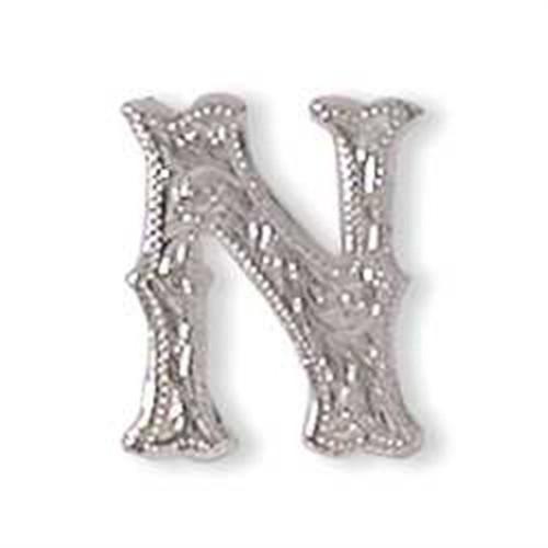 Alphabet Letter N Screwback Concho 1339-14
