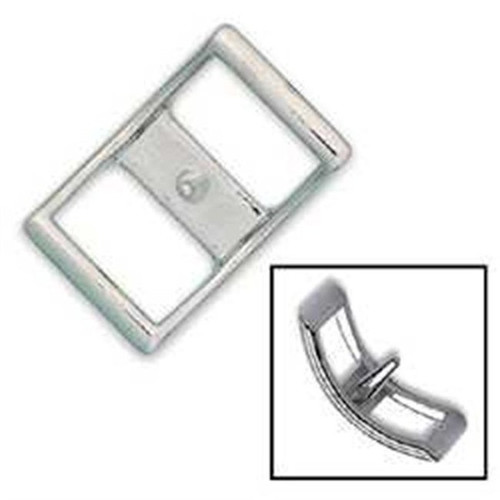 """Nickel Plated Conway Buckle 1"""""""