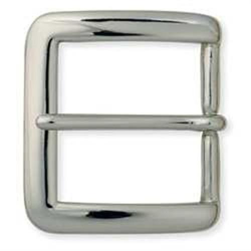 """Square Heel Bar Buckle Nickel Plate 1-1/2"""""""