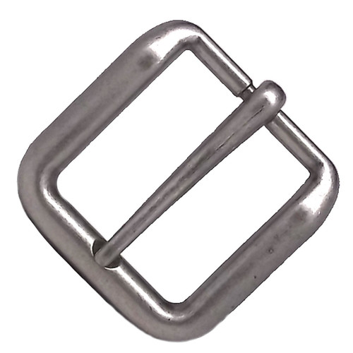 Solid Antique Nickel Wave Belt Buckle