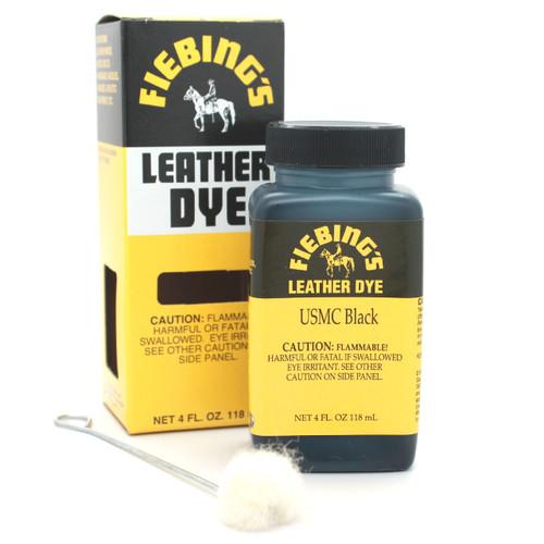 USMC Black Fiebing's Leather Dye 4 oz