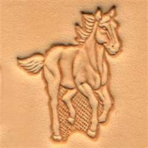 Craftool d running horse stamp by tandy leather