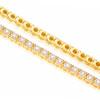 14k Yellow Gold Diamond Tennis Bracelet 3.32ct