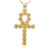 14k Yellow Gold 5.26ct  Large Diamond Ankh Pendant
