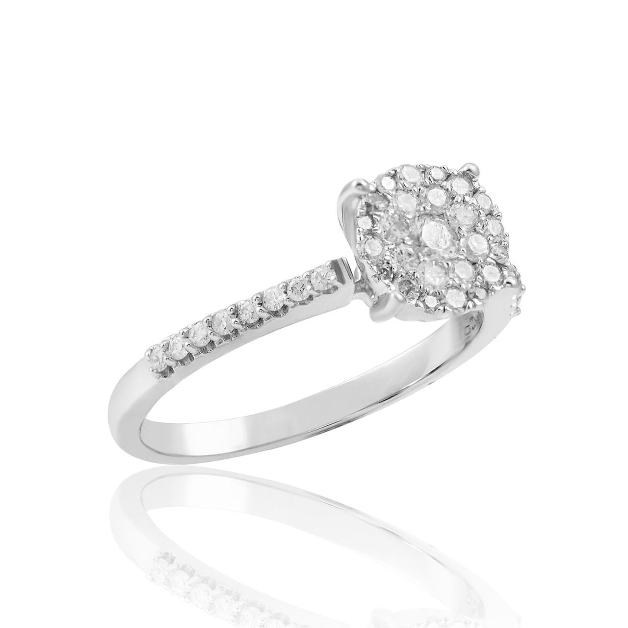 10k white gold 50ct engagement ring shyne jewelers. Black Bedroom Furniture Sets. Home Design Ideas