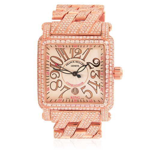 cecb02aad72 Franck Muller 18k Rose Gold 27.8ct Diamond Watch
