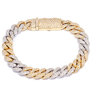 Mens Gold and Diamond Bracelets