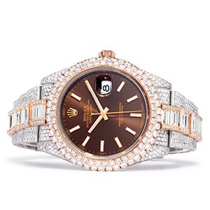 mens diamond rolex