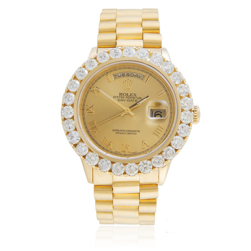 Rolex Day Date 18k Yellow Gold President 7 8ct Diamond